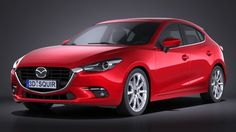 Mazda 3 hatchback 2017 3D Model .max .c4d .obj .3ds .fbx .lwo .stl @3DExport.com by SQUIR
