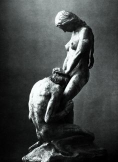 Kneeling Man Embracing a Standing Woman, Gustav Vigeland, c. 1908