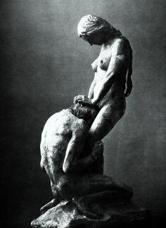 Kneeling Man Embracing a Standing Woman, Gustav Vigeland, c. 1908