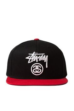 The Stock Lock 2-Tone Snapback Hat from Stussy. Standard fit snapback  featuring stock c5e1eea0ee0