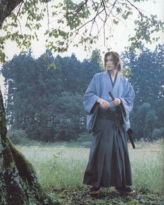 blue gackt samurai full length