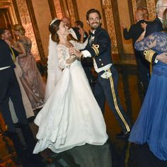 Prince Carl Philip of Sweden dancing with his new bride, Princess Sofia of Sweden