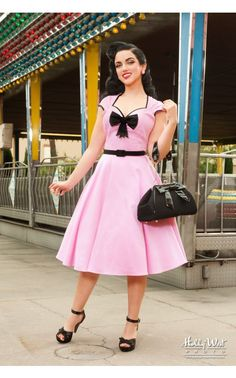 Pinup Couture - Heidi Dress in Pink | Pinup Girl Clothing
