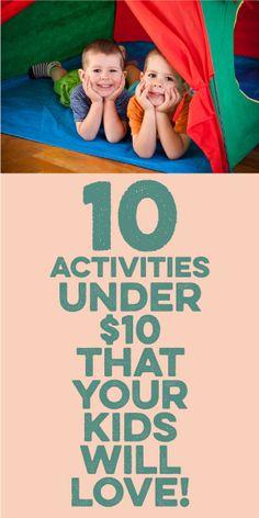 15 Activities Under $10 That Your Kids Will LOVE!