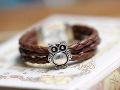 Charm braceletowl bracelet by fantasticgift on Etsy, $5.99