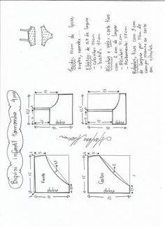 × Source by helgahartegen Lingerie Patterns, Dress Sewing Patterns, Sewing Patterns Free, Clothing Patterns, Sewing Pants, Sewing Clothes, Diy Clothes, Top Infantil, Kids Patterns