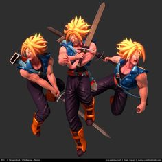 Dragonball Z Challenge: Trunks 2013 by cg-sammu on deviantART