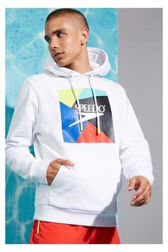 Speedo x Forever 21 Men's Collection Christopher Robin, Neon Color Dress, Best Fashion Photographers, Forever 21 Men, The Fashionisto, Poses, Fleece Hoodie, Men's Collection, Swim Shorts