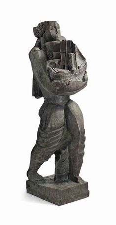 Ossip Zadkine (1890-1967)  Le porteur de présents ou Le Messager ou Le Navigateur