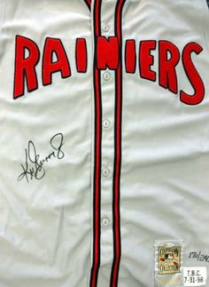 Ken Griffey, Jr. Autographed Rainiers Mitchell & Ness Jersey Vest /240 UDA #BAF72607 . $595.00. This is an authentic Mitchell & Ness Jersey Vest that has been hand signed by Ken Griffey, Jr. It has been authenticated by UDA and comes with their sticker and matching certificate of authenticity. It also comes with the Upper Deck Box.