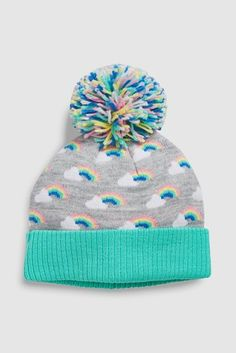 fb8e066f8cc67f Buy Rainbow Knit Pom Beanie Hat (Younger) from the Next UK online shop