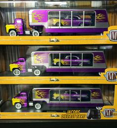 1:64 M2 Machines AUTO-HAULERS R17 * 1958 Chevy LCF Semi w/1957 Bel Air  FREE SH #M2Machines #Chevrolet