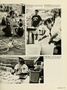 Athena yearbook, 1991. East Green Weekend. :: Ohio University Archives