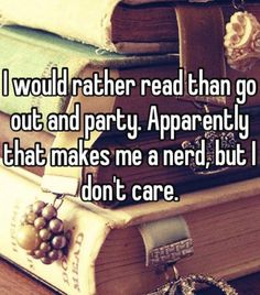 I'd rather party with fictional characters than any of the real people I know!