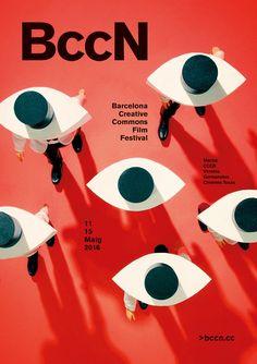 Poster for BccN 2016 Barcelona Creative Commons Film Festival — Javier Jaen Creative Poster Design, Creative Posters, Graphic Design Posters, Graphic Design Typography, Graphic Design Illustration, Graphic Design Inspiration, Typography Poster, Illustration Editorial, Digital Illustration