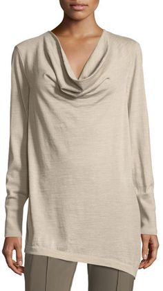 Lafayette 148 New York Asymmetric Cowl-Neck Merino Wool Sweater. Cowl neck sweater fashions. I'm an affiliate marketer. When you click on a link or buy from the retailer, I earn a commission.
