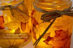 mason jars #fall wedding lights. Love it!