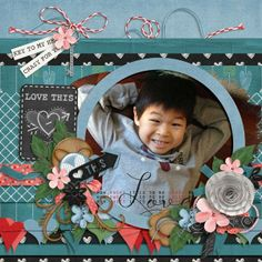 An adorable layout created by Penny using the Simply Stated collection.
