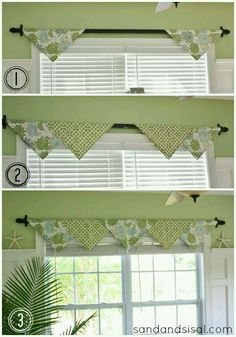 Not a fan of these colors but like the decor idea for the kitchen window!