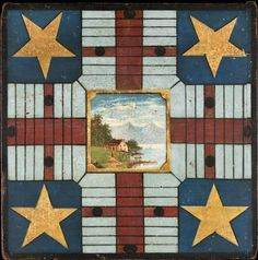 Early American game board.