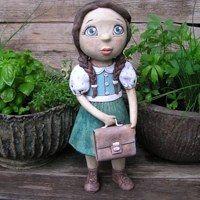 Garden Sculpture, Clay, Pottery, Ceramics, Outdoor Decor, Home Decor, Baby Dolls, Metals, Earth