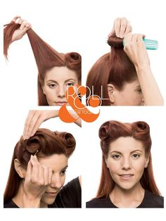 Vintage Hairstyling Roll and Go Victory Roll Tool Set is part of hairstyles - Buy the Roll and Go Victory Rolls Tool Set online in Australia View our range of vintage, retro and rockabilly hair styling tools and books Create easy victory rolls Vintage Hairstyles Tutorial, 1940s Hairstyles, Pin Up Hairstyles, Hair And Makeup Tips, Hair Makeup, 50s Makeup, Rockabilly Makeup, Makeup Geek, Vintage Makeup