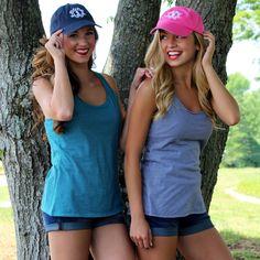 Monogrammed Baseball Hat from Marleylilly.com!