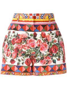 Shop Dolce & Gabbana Mambo print shorts.