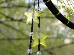 Yellow dream catcher wall hanging stars Native american