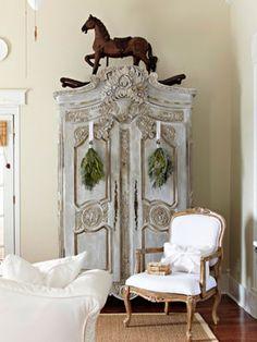 the prettiest grey armoire
