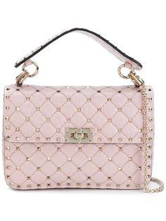 Valentino Garavani Garavani Rockstud Spike Crossbody Bag In Pink Valentino Handbags, Valentino Rockstud, Valentino Clothing, Beautiful Handbags, Small Crossbody Bag, Bago, Purses And Bags, Fashion Accessories, Hand Bags