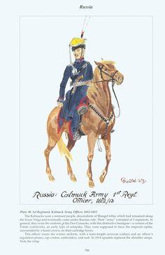 Russia: Plate 30. 1st Regiment, Kalmuck Army, Officer, 1812~1813