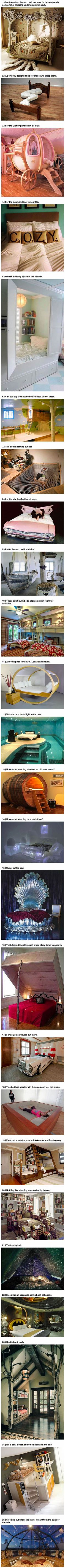 25 amazing beds that will make you wish it was nap time.