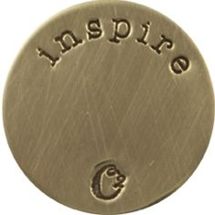 LARGE GOLD INSPIRE / GOLD PLATES | ORIGAMI OWL CUSTOM JEWELRY | STAMPED PLATE