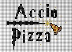 Hooks and Brushes: Accio Pizza Cross Stitch