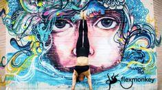 FlexMonkey beautiful Doris Arnold in front off a gravity wall