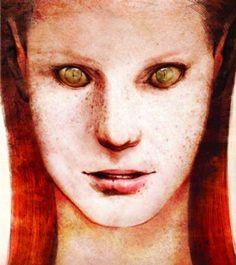 Red hair humanoid alien