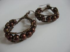 Grape Hoops by LeahDAmour on Etsy, $30.00