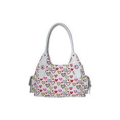 I Love Lucy- Signature Top Zipper Heart Hobo V605-1177LU75