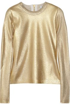 Moschino Metallic Wool-Blend Sweater