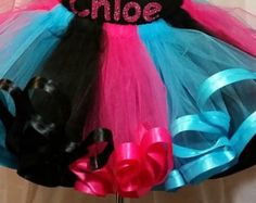Monster High tutu set by ChantesCreations on Etsy