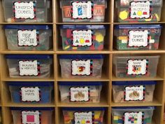 Great way to organize your math manipulatives. 20 Labels plus EDITABLE Labels you can design!