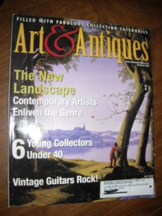 Art & Antiques Magazine October 2003 The New Landscape - for sale at Wenzel Thrifty Nickel ecrater store