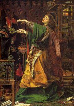 Frederick Sandys (1829-1904), Morgan le Fay, 1864, Birmingham Art Gallery.