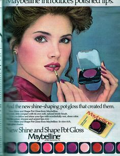 Maybelline Shine and Shape Pot Gloss, Seventeen Magazine, September 1982 by Look In The Tunk, via Flickr