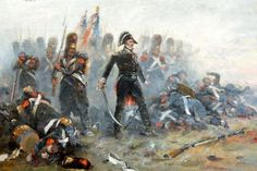 The Old Guard makes their stand at Waterloo. Napoleon Waterloo, Waterloo 1815, Battle Of Waterloo, Napoleon French, French Empire, Military Art, Military History, Bataille De Waterloo, Age Of Empires