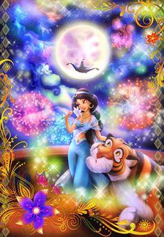 Tenyo Disney Princess Jasmine Aladdin Magic of Love Tenyo Disney Japan Jigsaw Puzzle Origin : Japan (Made in Japan) Piece : 1000 pcs Finished Size : 51 x cm Remarks : Glow in the Dark Batch Ref : Disney Princesse Jasmine, Disney Jasmine, Princess Jasmine, Disney Princess Snow White, Disney Princess Cinderella, Bambi Disney, Cute Disney, Donald Disney, Disney Sleeping Beauty
