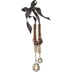 Lanvin Double Strass Pendant Necklace (¥93,405) ❤ liked on Polyvore featuring jewelry, necklaces, jeweled, accessories, clothing & accessories, women, ribbon tie necklace, jewel necklace, pandora jewelry and pendant jewelry