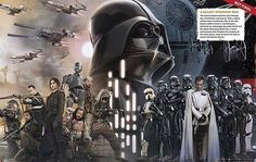 This is sort of a spoiler not really but the star wars rogue one visual dictionary image was released and look who's right in the middle. This 100% confirms that Darth Vader will be in rogue one #starwars #darthvader #rogueone