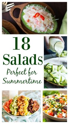 Summer is the perfect time for salads! Here's 18 salads that are perfect for hot summer days. Summer always has me thinking of salads. Something about crispy fresh veggies is just so perfect to munch on during hot days. I've been wanting vary up my salad